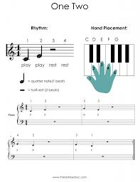 sheet music for kids one two sheet music for piano