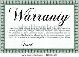 Warranty Certificate Template Free Jaxos Co