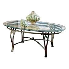 vintage style black metal legs and frame coffee table with oval
