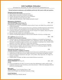 Maintenance Job Resume Objective Resume templates for maintenance worker best of resume objective 28