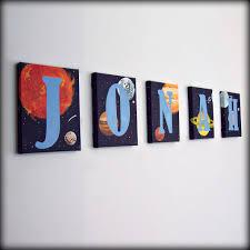 Solar System Bedroom Decor Solar System Letters Childs Room Decor Letters For Boys