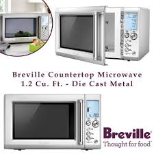 new breville countertop microwave 1 2 cu ft cast metal
