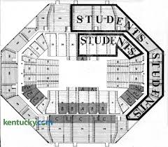 Uk Basketball Stadium Seating Chart First Rupp Arena Seating Chart 1976 Kentucky Photo Archive