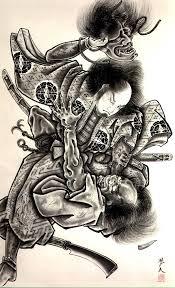 коллекция эскизов японских татуировок