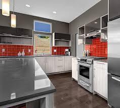Kitchen Backsplash Red Extraordinary Red Glass Subway Tile Backsplash Pictures Decoration