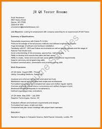 9 10 Sample Resume For Qa Tester Archiefsuriname Com