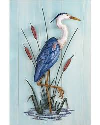 >tis the season for savings on nautical beach heron coastal metal  nautical beach heron coastal metal wall decor lake seaside birds wall art