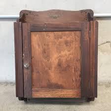 Antique Medicine Cabinet Vintage Wood And Mirrored Medicine Cabinet Urbanamericana