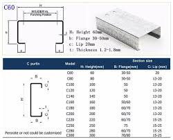 Z Purlin Weight Chart C Z Hdg Purlins Price For The Hot Dip Galvanized C Z Purlins Buy Galvanized Steel Z Purlin Cold Rolled Steel Z Purlin Z Purlin Specification