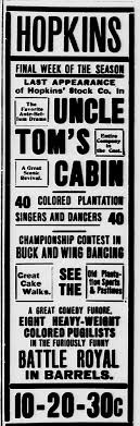 negro battle royal question of the month jim crow  battle royal uncle tom s cabin ad