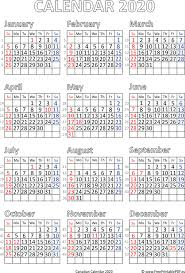 Printable Calendars 2020 With Holidays Calendar 2020 Canada Printable Pdf Free Printable Pdf