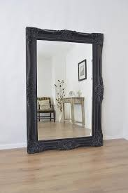 wood wall mirrors. 6Ft X 4Ft Large Black Antique Style Rectangle Wood Wall Mirror Overmantle Mirrors R