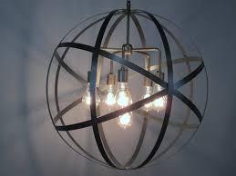 amazing details this wonderful industrial orb chandelier xhenqgp