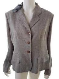 Details About Paul Costelloe Womens Usa Size 14 New Blazer Linen 100 Brown