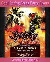 Party Flyer Gorgeous Cool Spring Summer Break Party Flyers Entheos