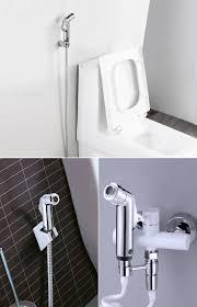 KCASA Double Modes Pressurize Bidet Shower Toilet Seat Shattaf Bathroom  Kitchen Shower Head Sprayer