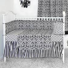 sleeping partners damask black and white 4 piece baby crib bedding set free