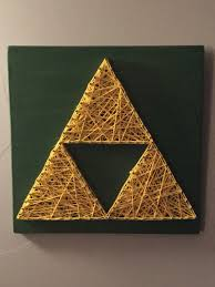 Zelda triforce nail and string art https://www.etsy.com/listing ...