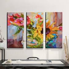 Aliexpress : Buy 3 Piece Abstract Modern Canvas Wall Art Within 3 Piece  Abstract Wall Art