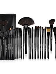 32pcs makeup brushes professional makeup brush set pony nylon synthetic hair limits bacteria big brush middle brush small brush