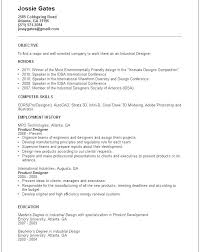 Designer Resume Example Creative Resume Objective Product Designer