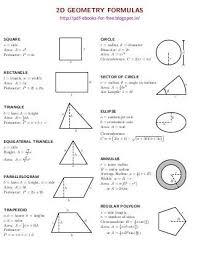 2d And 3d Geometry Formulas Ebook Math Geometry Formulas