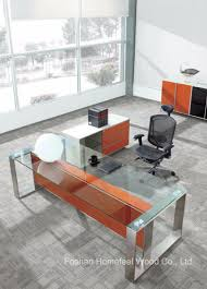 office furniture glass. Hot Sell Modern Office Furniture Executive Glass Desk (HF-SIA002) E
