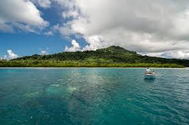 developing paradise in the western pacific ocean asian  one of the remotest and most beautiful places