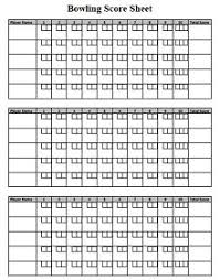 32 Bowling Score Sheet Templates Pdf Excel Word Excelshe
