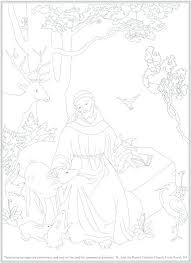 St Francis Of Assisi Coloring Pages Saint Of Coloring Pages Saint Of