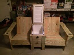 man cave furniture ideas. Pallet Twin Seater With Cooler Complete Cup Holders.Great Man Cave Idea . Furniture Ideas