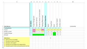 Skill Chart Format 5 Free Skills Matrix Templates Excel Pdf Downloads Ag5