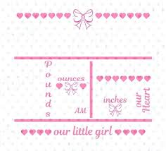 Baby Girl Birth Announcements Template Free Template Girl Birth Announcement Template
