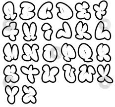 attractive bubble letter maker graffiti font alphabet coloring page