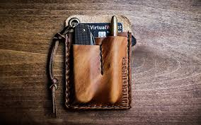 read on to take a look at some handsome leather options for organizing and carrying your edc that ll only get better the more you carry them