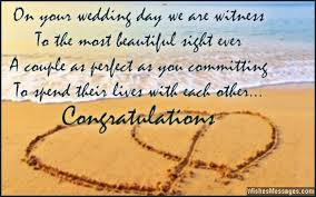 Beautiful Quotes For Newly Married Couple Best of Wedding Card Quotes And Wishes Congratulations Messages
