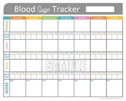 Excel Blood Sugar Log Blood Sugar Log Template In Pdf Format Excel Template Blood