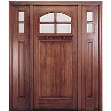 craftsman front door36x80 4Lite Mahogany Craftsman Entry Door Two Sidelites with
