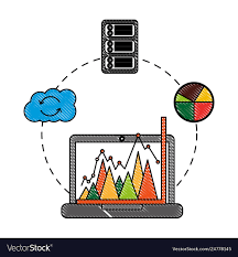 Chart On Cloud Computing Business Laptop Chart Report Cloud Computing
