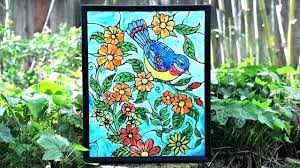stained glass paint faux stained glass faux stained glass paint stained glass painting classes in chennai stained glass paint