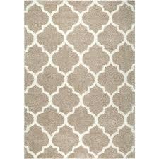 house of hampton mcspadden trellis beige white area rug with rug pad area rug pad area