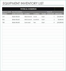 Excel Equipment Inventory List Template Equipment Inventory Template Original Equipment Inventory List