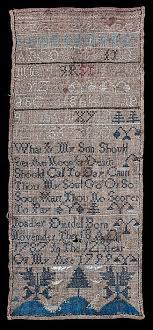 Sampler by Polly Ray – Works – The Colonial Williamsburg Foundation