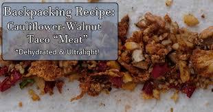 dehydrator cauliflower walnut taco
