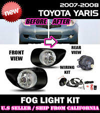 toyota yaris fog lights 06 08 toyota yaris liftback fog lights driving lamp kit w switch wiring
