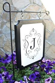 monogram flags for outside monogrammed outdoor better than the flag ones i see around our neighborhood evergreen monogram garden flags