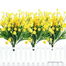 faux outdoor flowers artificial fake flowers faux yellow daffodils outdoor greenery shrubs plants plastic bushes whole faux outdoor