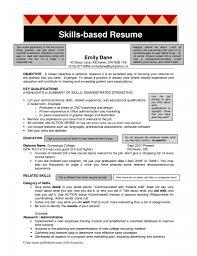 Example Of Skills Based Resume Skill Resume Template Geminifmtk 10