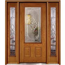 ash wood glass panel door