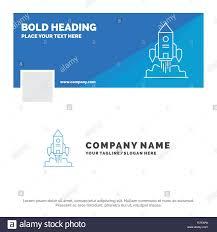 Startup Timeline Template Blue Business Logo Template For Rocket Spaceship Startup